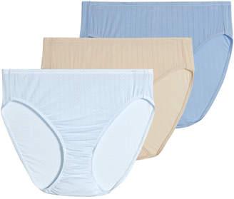 Jockey Women 3-Pk. Supersoft Breathe Drop-Needle Knit French-Cut Brief Underwear 2371