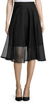 Milly Silk Organza Circle Skirt