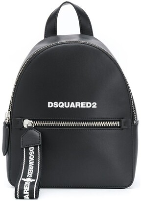 DSQUARED2 Logo Strap Leather Backpack