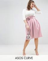 Asos Scuba Prom Skirt With Paperbag Waist