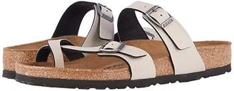 Birkenstock Mayari Vegan (Stone Pull Up Birko-Flortm) Women's Sandals
