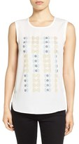 Nic+Zoe 'Arthouse' Embroidered Tank