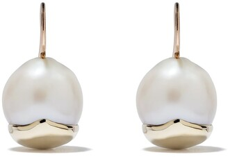 Mizuki 14kt Gold Fluid Pearl Earrings