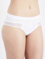 Implicite Fiction stretch-jersey and lace shorty briefs