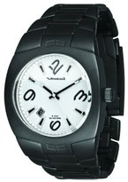 Vestal Unisex MTR032 Gearhead IP Matte Black White Dial Watch