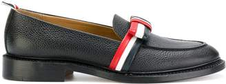 Thom Browne striped bow loafers