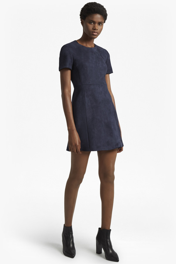 French Connection Patty Drape Short Sleeved Dress
