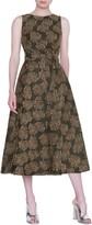 Akris Punto Desert Flower Jacquard Midi Dress