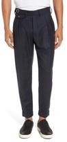 Eleventy Men's Glen Plaid Pleat Front Wool Pants