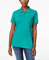 Karen Scott Short-Sleeve Polo Top, Only at Macy's