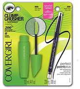 Cover Girl Clump Crusher by LashBlast Mascara Very Black 800 ( .44 oz) and Perfect Point Plus Eye Pencil ( .008) Value Pack