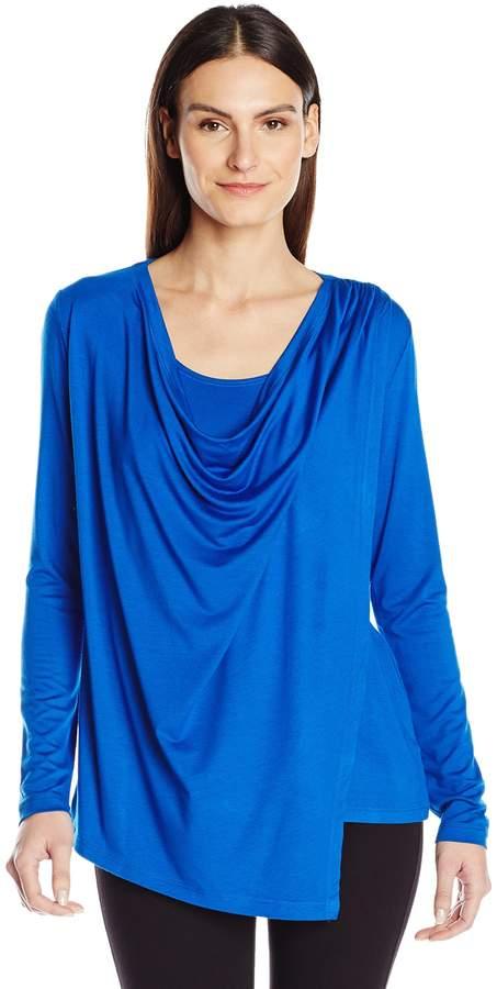 Karen Kane Women's Asymmetric Drape Top