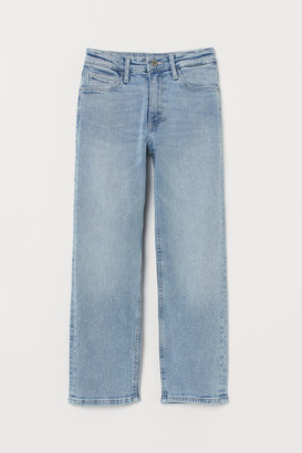 H&M Straight Cropped Jeans - Blue