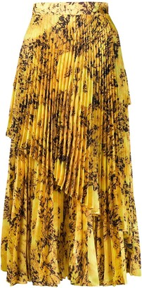 Richard Quinn Asymmetric Pleated Skirt