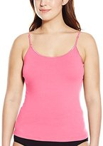 Pure Style Girlfriends Women's Plus Size Cami Tank with Adjustable Strap