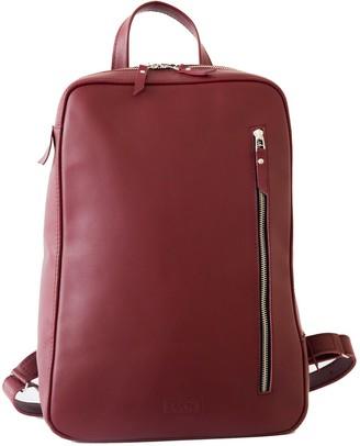 Leather Backpack ''Marjoram'' Burgundy