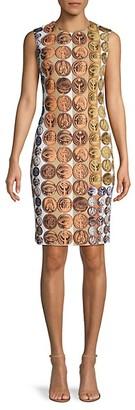 Roberto Cavalli Medallion-Print Sheath Dress