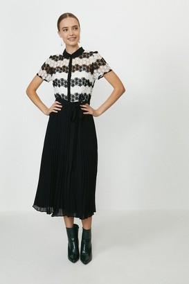 Coast Lace Pleat Midi Dress
