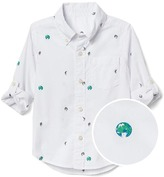 Gap Earth poplin convertible shirt