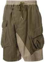 Miharayasuhiro draped track shorts