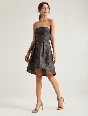 Halston Metallic Jacquard Dress