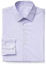 Gap Stretch Poplin gingham slim fit shirt