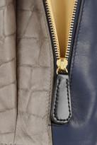 Iris & Ink Bloomsbury croc effect-paneled leather tote