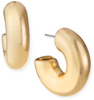 Kenneth Jay Lane Polished Chubby Hoop Earrings, Gold