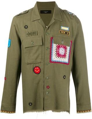 Amiri Patch-Embellished Military Shirt