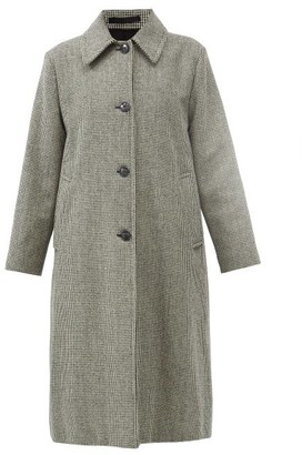 Officine Generale Juliette Virgin-wool Houndstooth Coat - Black White
