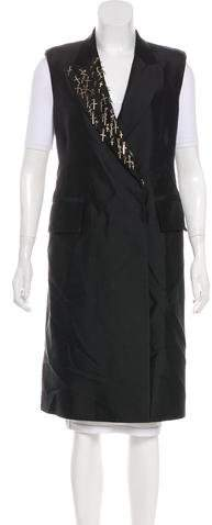 Thomas Wylde Embellished Long Vest