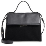 Treasure & Bond Treasure&bond Top Handle Suede & Leather Satchel - Black