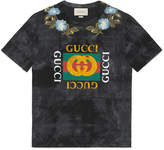 Gucci Cotton tie-dye T-shirt with logo