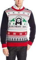 Ugly Christmas Sweater Men's Jesus Bday