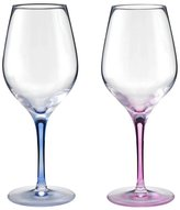 SNET Stolzle Shutorutsuru color stem red and white combination wine glass pair [ white pair box input ] Blue u0026 Raspberry