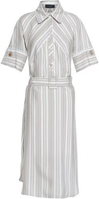 Piazza Sempione Belted Striped Oxford Tunic