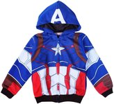 MITIAO Little Boy Cartoon Zip Up Hooded Sweatshirts Captain America