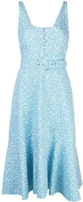 Jonathan Simkhai Floral Print Midi Dress