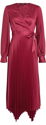 Intermix Allison Pleated Wrap Dress
