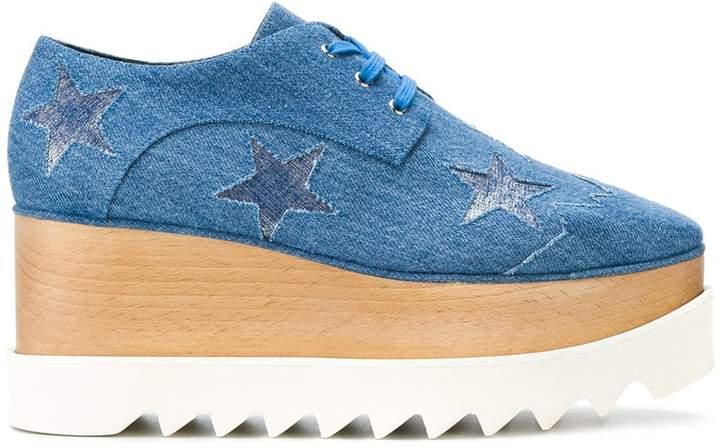Stella McCartney Star Elyse denim platform shoes