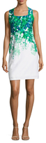 Donna Ricco Cotton Floral Print Sheath Dress