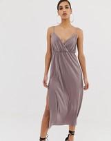 Asos DESIGN cami wrap plisse maxi dress
