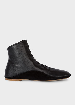 Paul Smith Women's Black Perforated Leather 'Milton' Boots