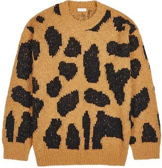 Dries Van Noten Maddox Leopard-intarsia Wool-blend Jumper