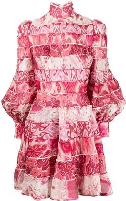 Zimmermann Panelled Ikat-Print Dress
