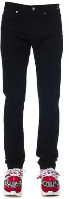 Versace Black Cotton Straight Jeans