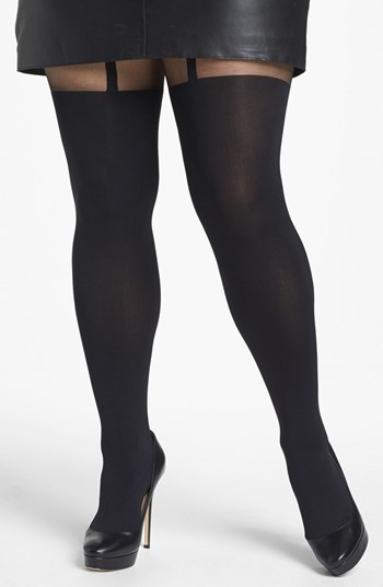 Pretty Polly 'Curves - Suspender' Tights (Plus Size)