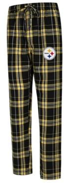 Concepts Sport Men's Pittsburgh Steelers Hillstone Flannel Pants
