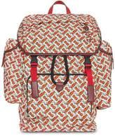 Burberry Medium Leather Trim Monogram Print Backpack