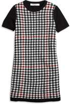 Brooks Brothers Short-Sleeve Windowpane Sweater Dress